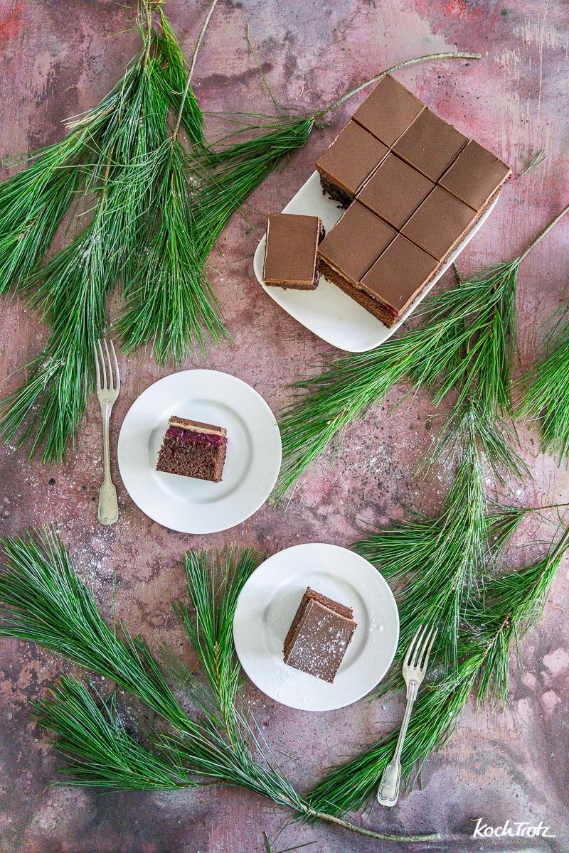 einfaches Rezept Dominostein-Kuchenschnitten