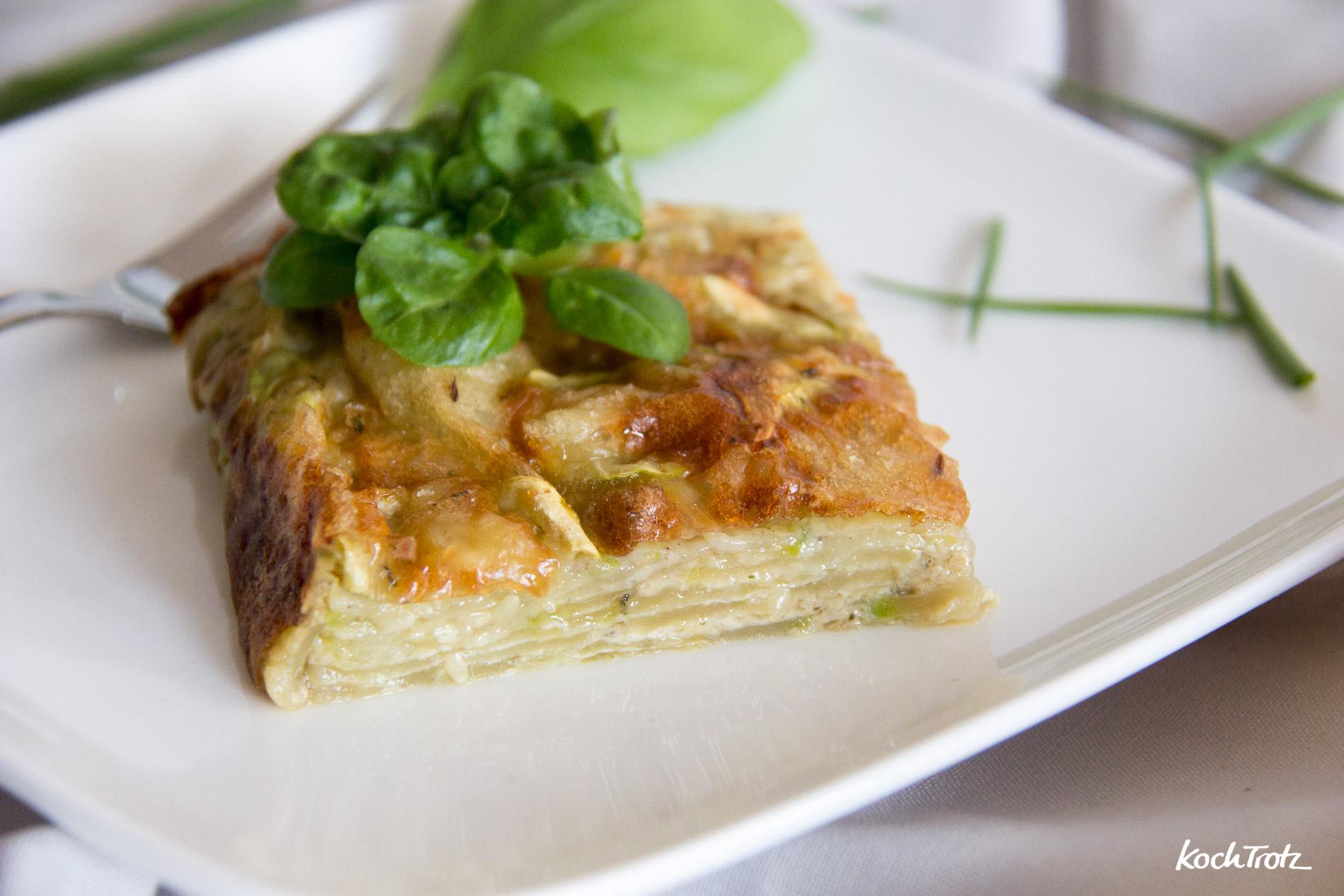 Gâteaux invisible | Superkuchen mit Zucchini | ganz ohne Mehl | KochTrotz