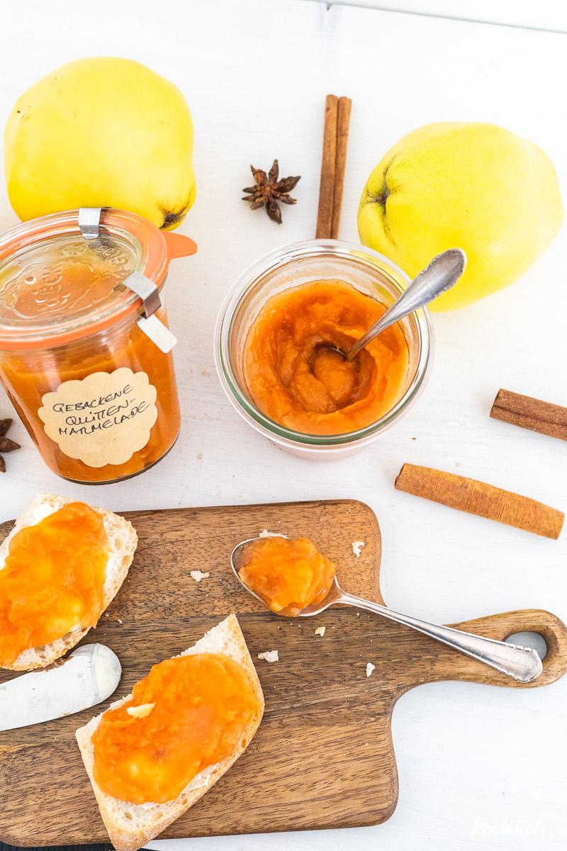 Rezept gebackene Quittenmarmelade aus dem Backofen