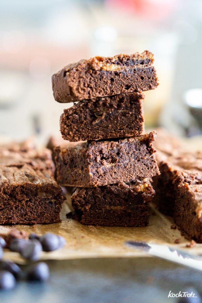 Rezept Karamell-Brownies, wahlweise glutenfrei