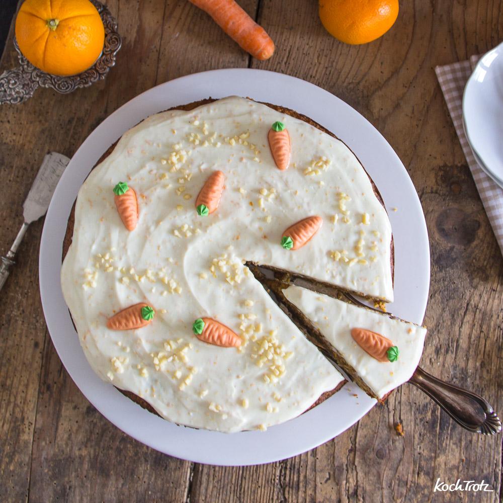 saftiger Karottenkuchen ohne Mehl   optional zuckerfrei   optional vegan   Rüblikuchen