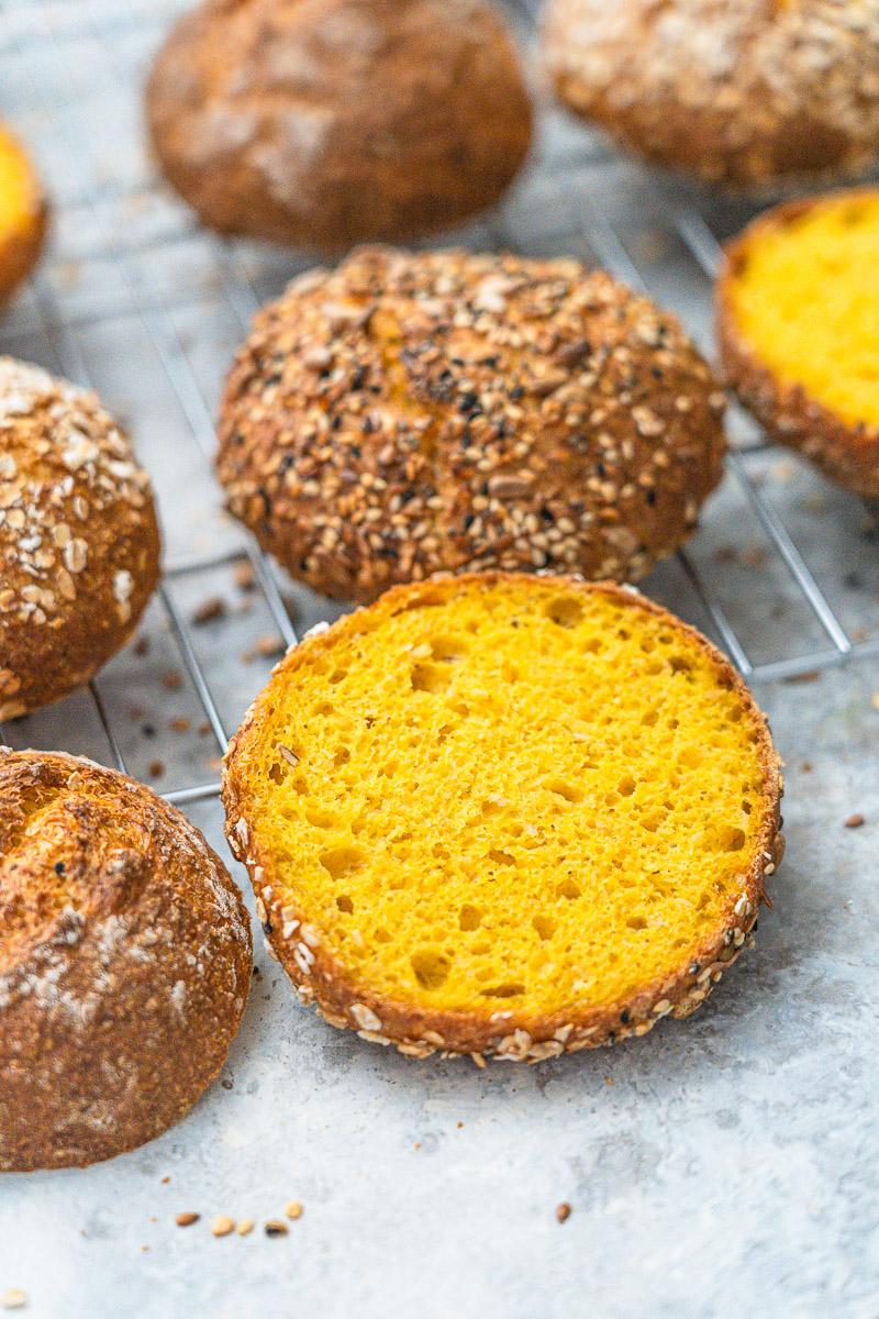 Rezept Brötchen mit Karotten wahlweise glutenfrei oder mit Weizen/Dinkel