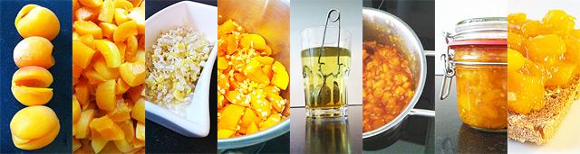 Aprikosenmarmelade mit Ingwer und Zitronengeras