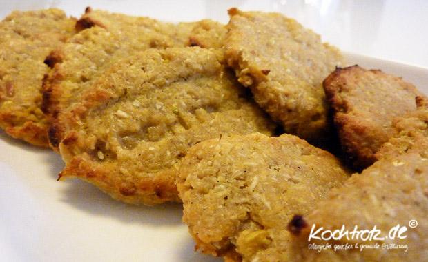 Apfel-Kokos-Kichererbsen-Kekse