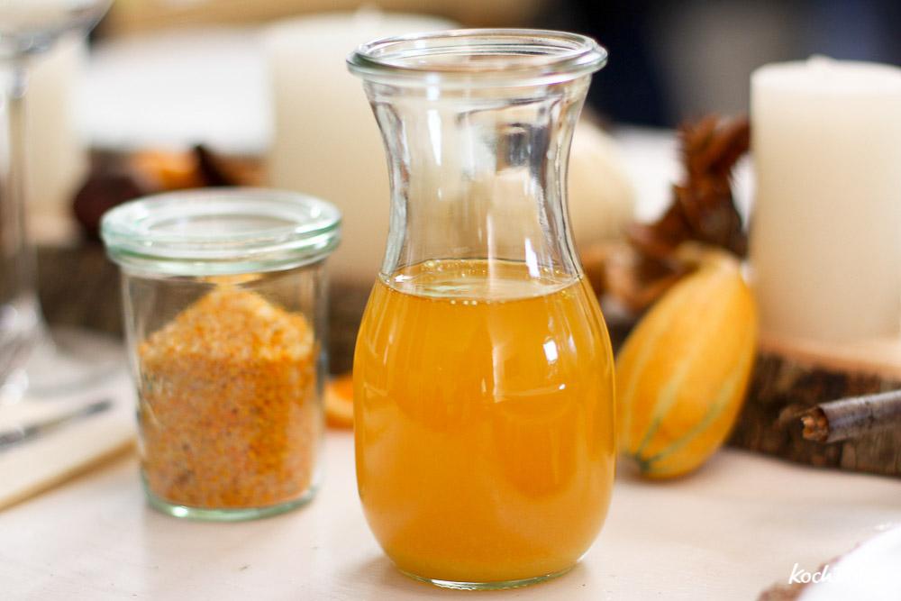 confiertes Kürbisöl selbst herstellen   Geschenke aus der Küche   lecker und einfach