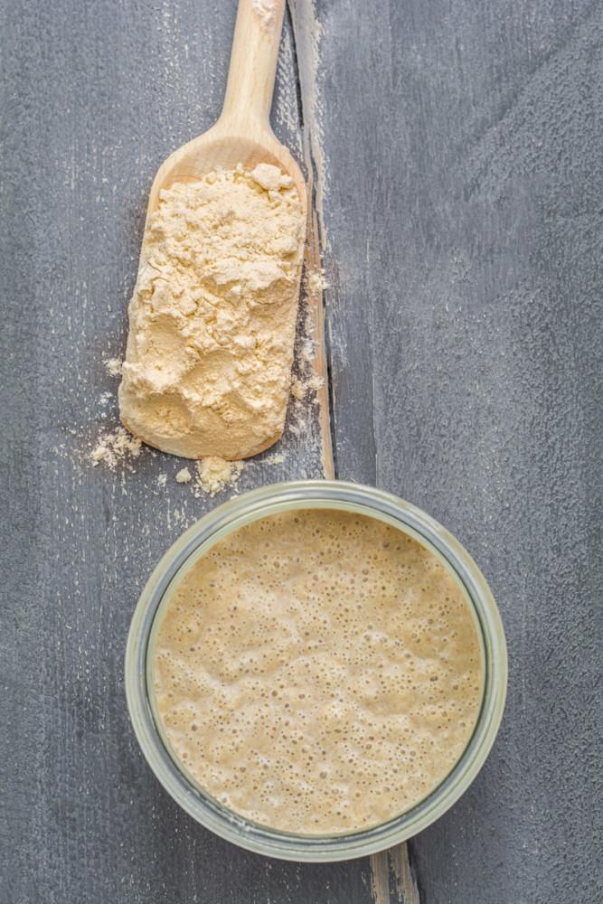 Anleitung glutenfreie Lievito Madre in Sauerteig umzüchten