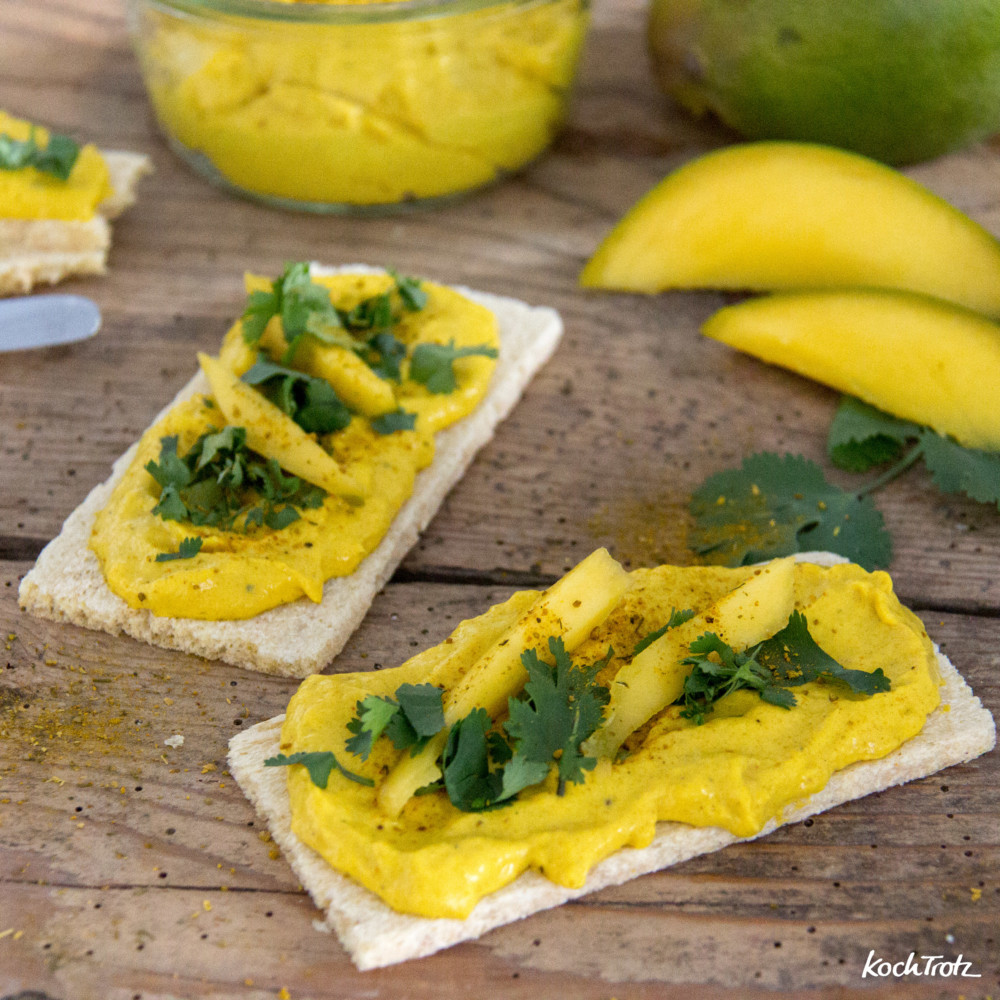 Mango-Curry-Frischkäse-Aufstrich