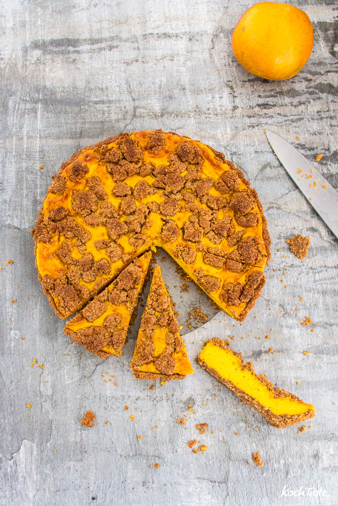 Mango-Pudding Streuselkuchen   glutenfrei   ohne Fertigmehlmischung   auch vegan