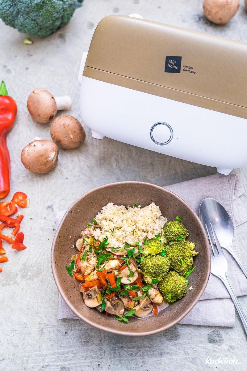 Miji Cookingbox One Produktvorstellung und Grundrezept Gulaschtopf