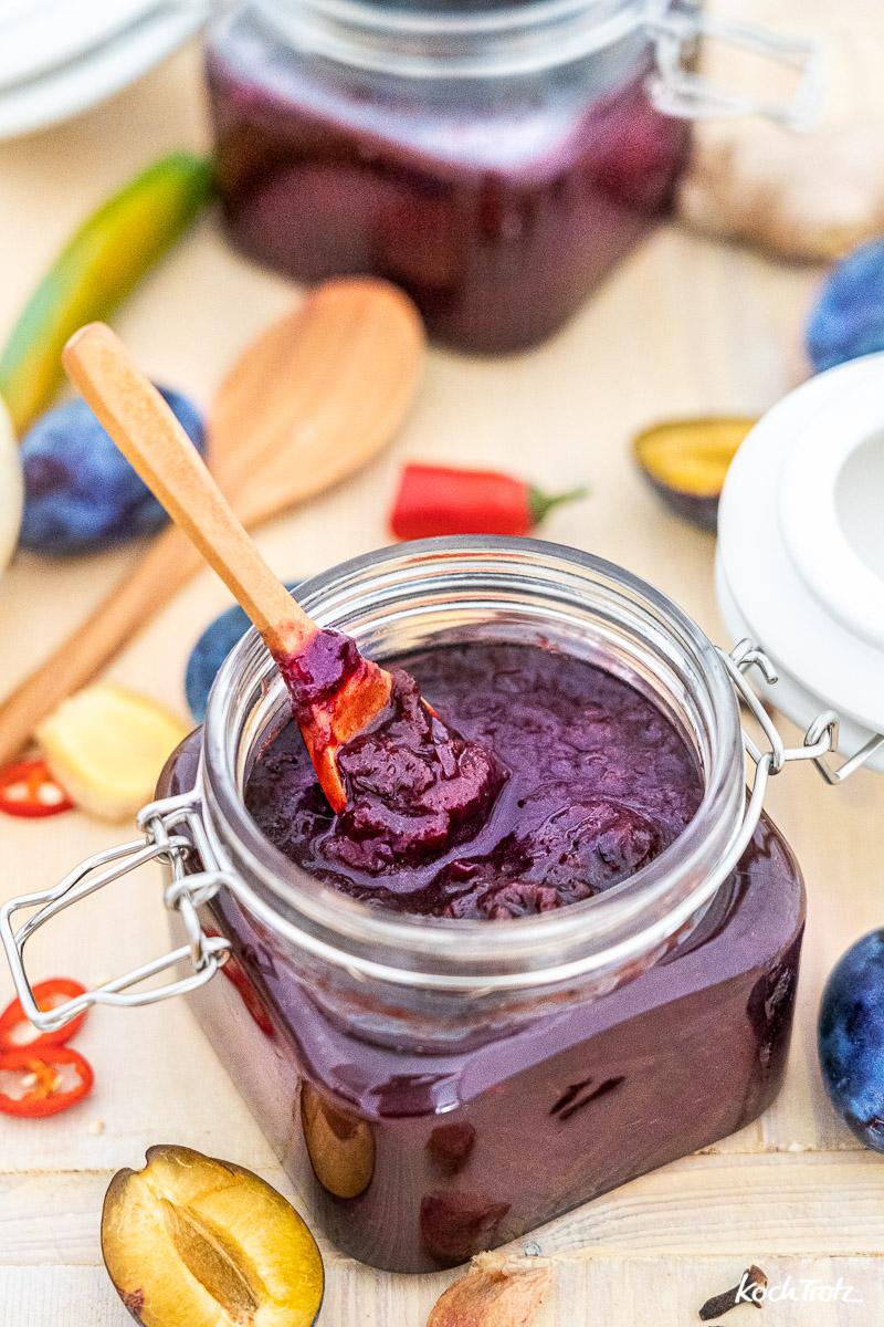 Rezept Pflaumen-Chutney   Zwetschgen-Chutney ohne Alkohol   histaminarm und vegan