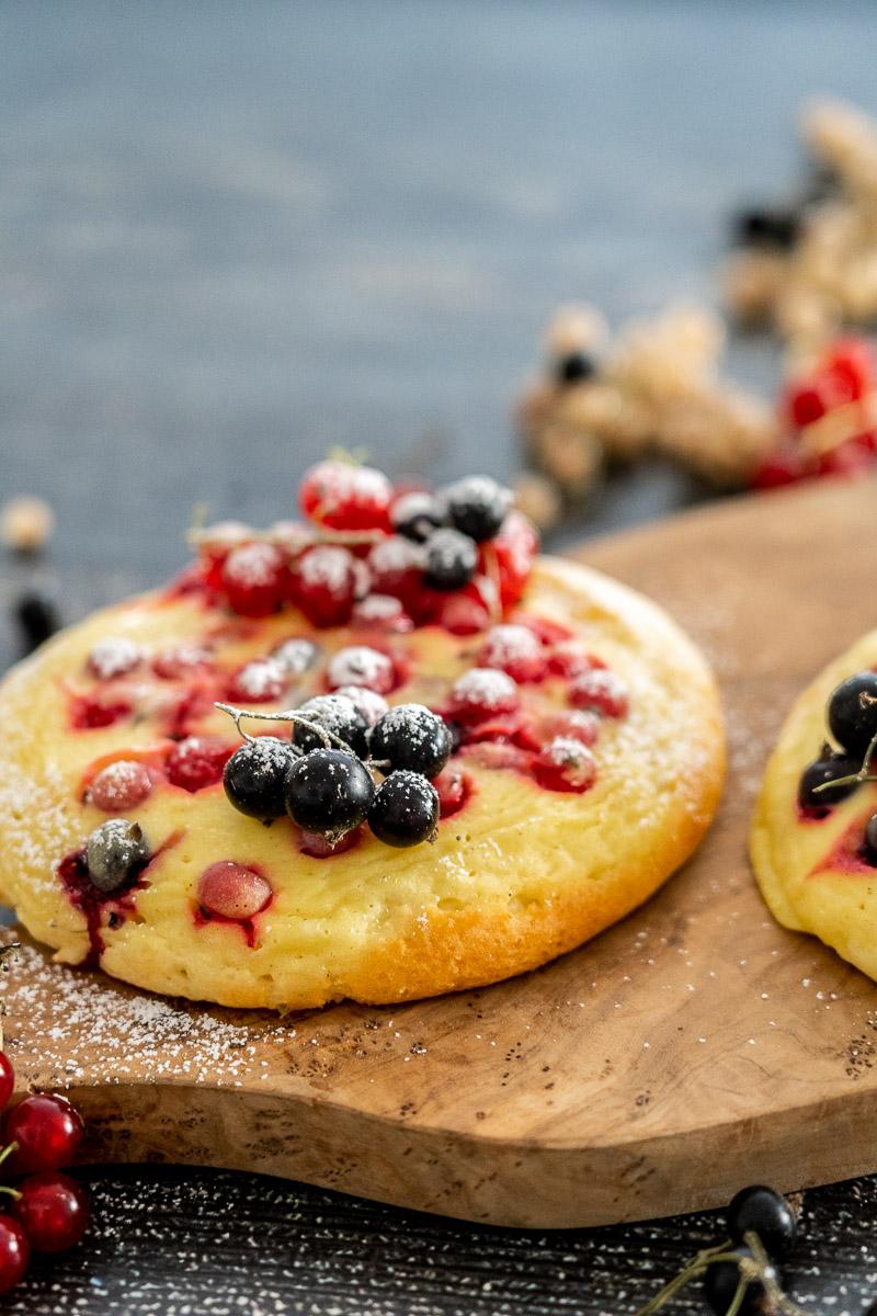glutenfreie Puddingteilchen   ohne Fertigmehlmischung   mit Früchten   optional eifrei