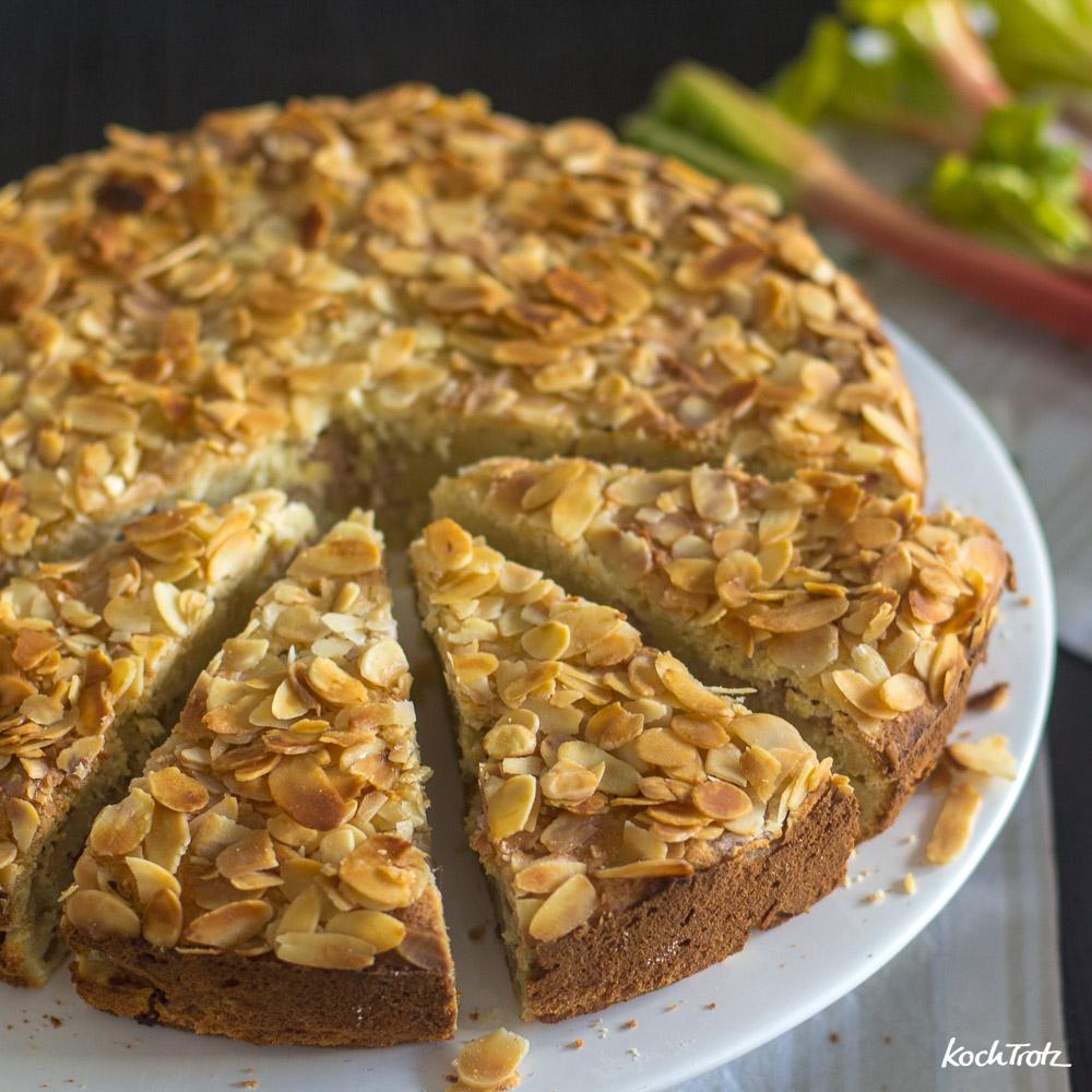 Rhabarber-Mandelkuchen | glutenfrei