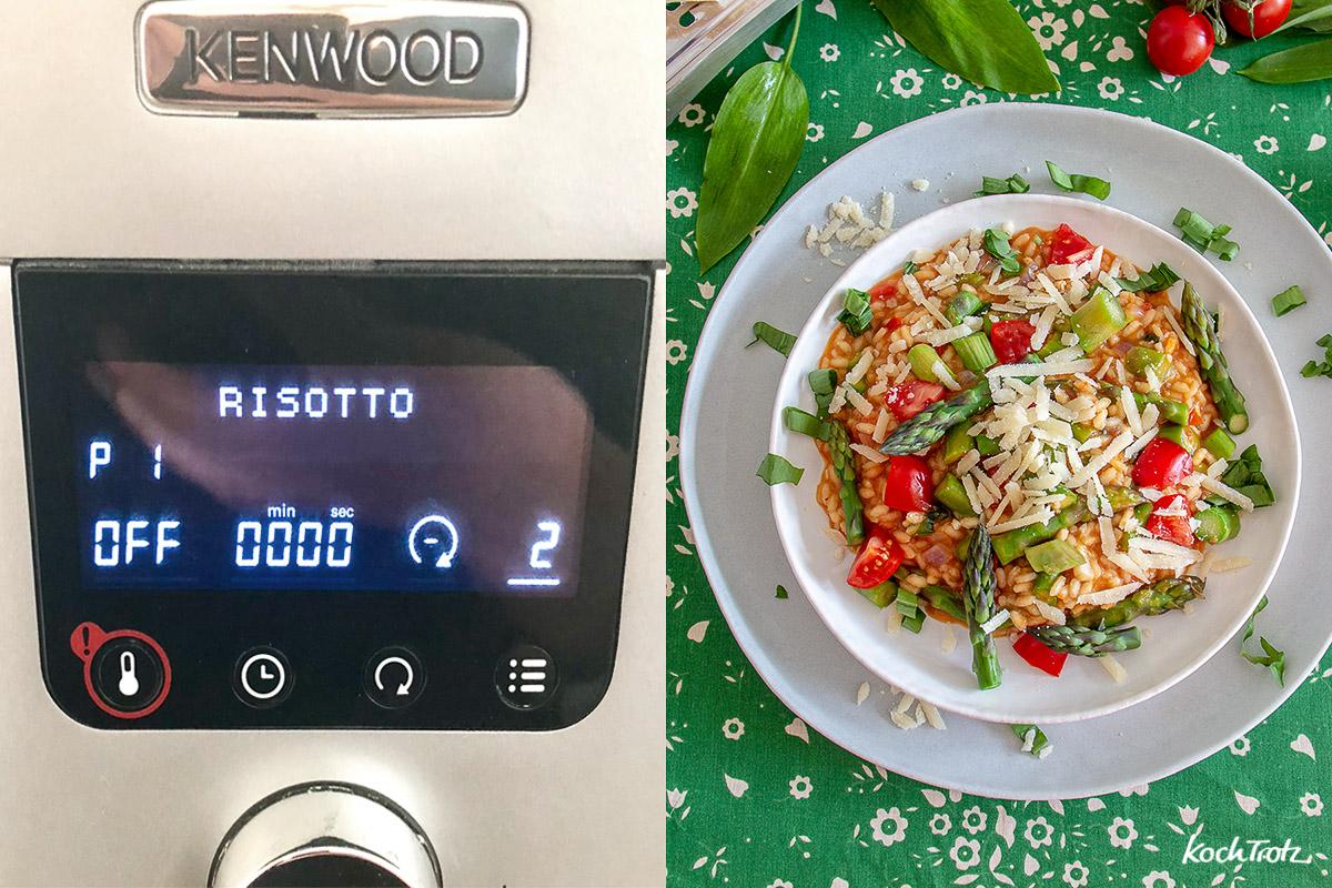 Grundrezept Risotto mit viele Gemüse. Gekocht mit dem Programm der Cooking Chef Gourmet.