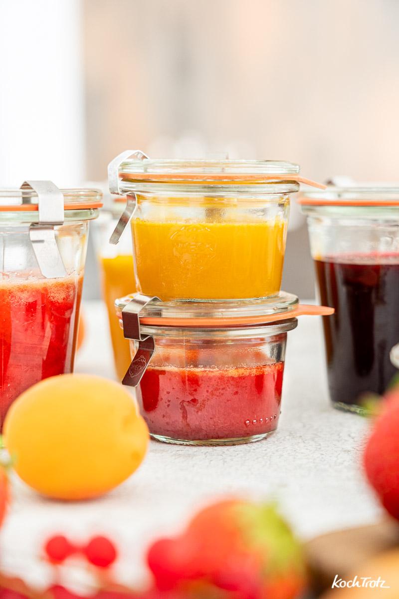 Rezept samtiger Fruchtaufstrich mit 2 Zutaten