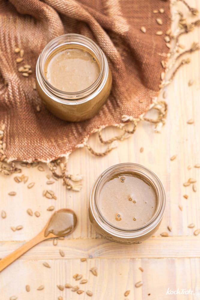 Rezept Erdnussbutter ohne Erdnüsse | tolle Alternative für Erdnussallergiker