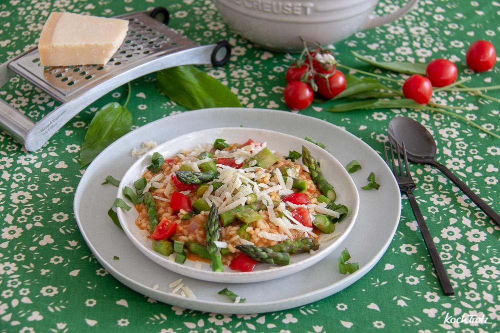 Spargelrisotto 4 zu 1   leichte Frühlingsküche