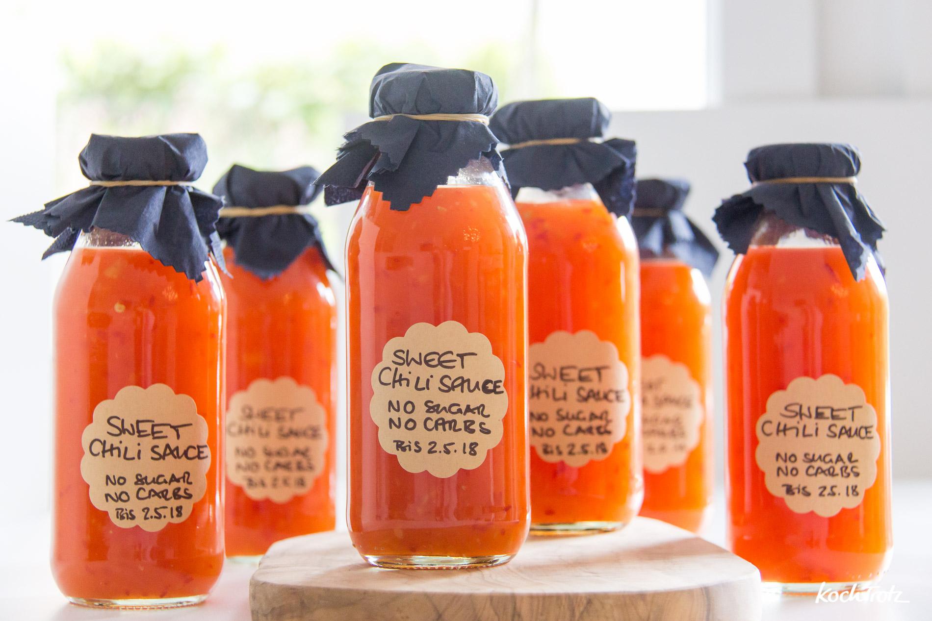 low-carb Sweet Chilisauce | Thermomix-Rezept | zuckerfrei | schmeckt wie das Original