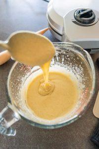 Rezept Eiswaffeln selber machen glutenfrei, vegan Teigkonstistenz