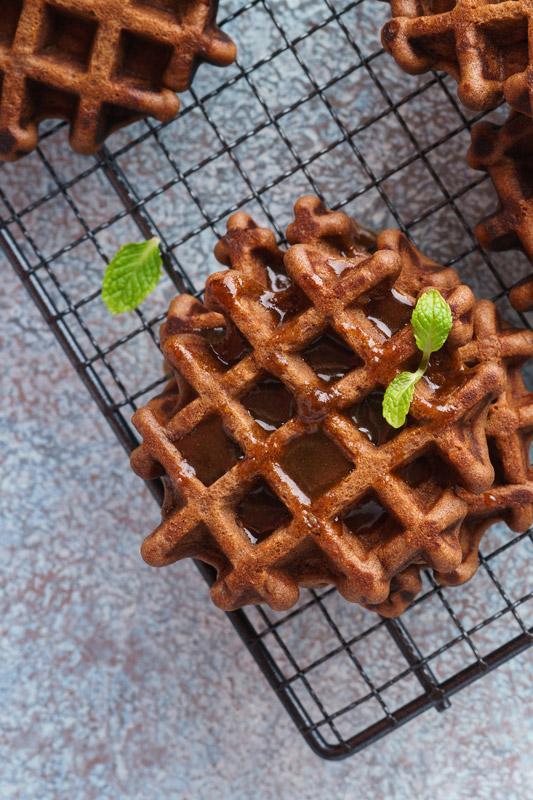 Belgische Schokoladenwaffeln glutenfrei