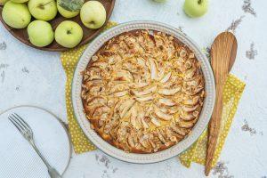 Rezept Apfel-Quark-Auflauf wahlweise glutenfrei, ohne Ei, histaminarm, vegan