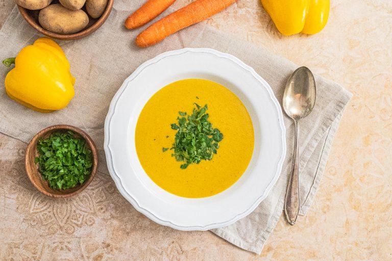 Rezept Kraftsuppe 5 Zutaten in 15 Minuten gekocht, wahlweise vegan