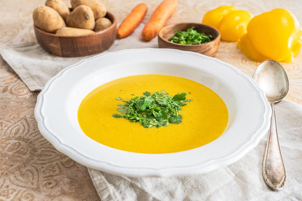 Magenschmeichler-Suppe Seelenwärmer-Suppe Rezept auch vegan