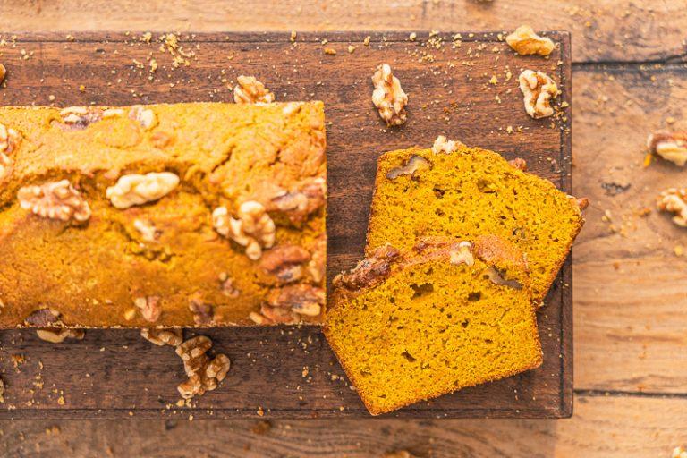einfaches schnelles Rezept für Kürbiskuchen, wahlweise glutenfrei