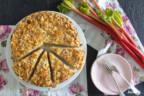 Saftiger Rhabarber-Mandelkuchen | optional glutenfrei und zuckerfrei